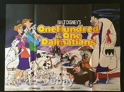 101 Dalmatians Original Quad Movie Poster Walt Disney Animation Classic 1961