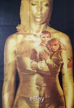 1964 GOLDFINGER original British Quad movie film poster (Style A) James Bond