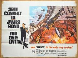 1967 YOU ONLY LIVE TWICE British Quad movie poster (Style A) James Bond original