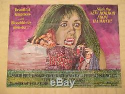 1970 The Vampire Lovers original! British Quad 30x40 1 sheet movie poster FN