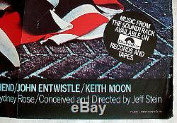 1979THE KIDS ARE ALRIGHT Original British Quad Poster THE WHO Roger Daltry