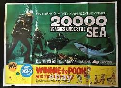 20,000 Leagues Under the Sea Original Quad Movie Poster Disney Kirk Douglas 1954