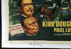 20,000 Leagues Under the Sea Original Quad Movie Poster LINEN BACKED Disney