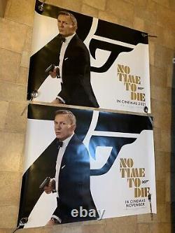 2x No Time To Die Movie Quad Poster RARE November & 2021 Original James Bond 007