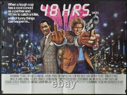 48 Hrs /48 Hours'82 Original 30x40 Uk Quad Movie Poster Eddie Murphy Nick Nolte