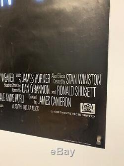 ALIENS (1986) Original UK Quad cinema movie poster ROLLED