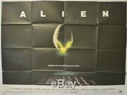 ALIEN (1979) Original Cinema Quad Movie Poster Ridley Scott, Sigourney Weaver