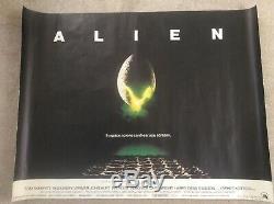 ALIEN Original UK Quad 1970s Movie Poster (original release) Rolled condition