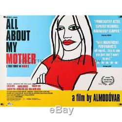 ALL ABOUT MY MOTHER British Quad Movie Poster 30x40 Almodovar