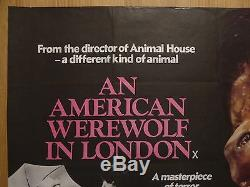 AN AMERICAN WEREWOLF IN LONDON (1981) original UK quad film/movie poster, horror