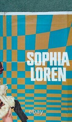 ARABESQUE (1966) orig 1stRelease UK quad movie poster Gregory Peck Sophia Loren