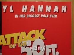 ATTACK OF THE 50FT WOMAN (1993) original UK quad film/movie poster, sci-fi, rare