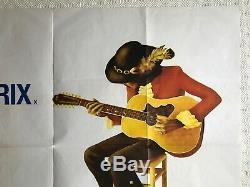 A Film About Jimi Hendrix Original Movie Quad Poster 1973