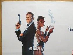 A VIEW TO A KILL (1985) original UK quad film/movie poster, James Bond 007