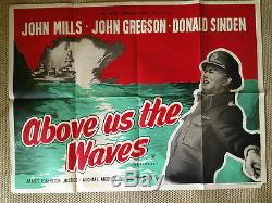 Above Us The Waves Original Uk Quad Film Poster Rerelease John Mills