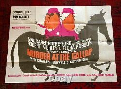 Agatha Christie Murder at the Gallop Original UK Quad Film Poster 1963