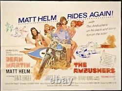 Ambushers Original Quad Movie Poster Dean Martin Matt Helm Henry Levin 1967