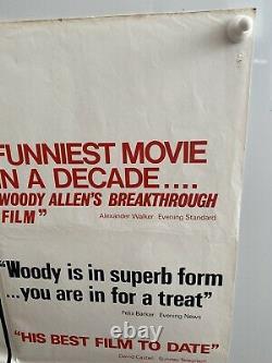 Annie Hall Original UK Quad Film Poster 1977 Nervous Romance Woody Allen