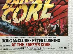 At the Earths Core Original Movie Quad Poster 1976 Peter Cushing Chantrell Art
