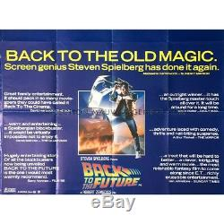 BACK TO THE FUTURE British Quad Reviews Movie Poster 1985 Robert Zemeckis