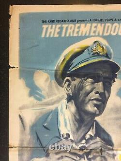 BATTLE OF THE RIVER PLATE 1956 Original Cinema UK Quad Movie POSTER Variant RARE