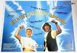 BILL & TED'S EXCELLENT ADVENTURE 1989 British UK Quad Original Movie Film 1980s