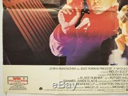 BLADE RUNNER (1982) Original Quad Movie Poster Harrison Ford, Ridley Scott