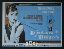 BREAKFAST AT TIFFANY'S (1961) ORIGINAL, BFI 2001 Re-release UK Quad Film Poster
