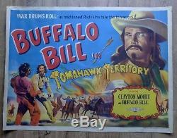 BUFFALO BILL 1952 Original UK Quad Film Poster WESTERN Cowboys