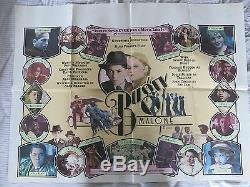BUGSY MALONE Original UK Quad Film Poster Folded 1976 JODIE FOSTER ALAN PARKER