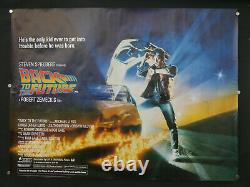 Back to the future (ROLLED) 1985 uk quad cinema film poster michael j fox