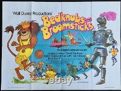 Bedknobs and Broomsticks Original Quad Movie Poster Walt Disney 1970sRR
