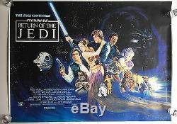 Best on Ebay! STAR WARS RETURN OF THE JEDI 1983 British Quad Film Poster rolled