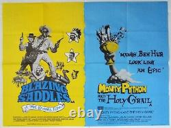 Blazing Saddles/monty Python And The Holy Grail Original Quad Film Poster 1975