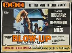 Blow Up Original Quad Movie Poster Antonioni Redgrave Hemming ABC Cinema 1966