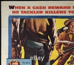 Bounty Hunter ORIGINAL Quad Movie Poster Randolph Scott 1954 Western VERY RARE