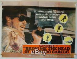 Bring me the Head of Alfredo Garcia original release british quad movie poster