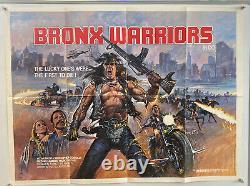 Bronx Warriors Original UK British Quad 30x40 Film Poster 1983