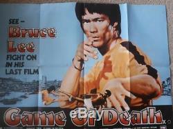 Bruce Lee Game Of Death Original British Quad Film Poster