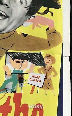 Bulldog Breed Square Peg Original Quad Movie Poster Norman Wisdom Comedy 1960s