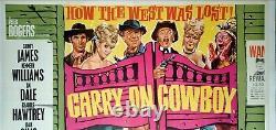 CARRY ON COWBOY (1965) original UK quad movie poster rare Saloon Doors version