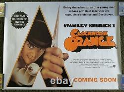CLOCKWORK ORANGE (2000 RR) Original UK Quad Movie Poster Stanley Kubrick