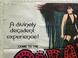Cabaret Original 1972 Movie Quad Poster Liza Minnelli Michael York Bob Fosse