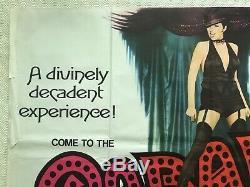 Cabaret Original Movie Quad Poster 1972 Liza Minnelli, Tom Chantrell Art
