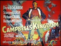Campbell's Kingdom Original Quad Movie Poster Stanley Baker Dirk Bogarde 1957