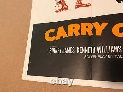 Carry On Again Doctor Original Uk Quad Film Poster Sid James Kenneth Williams