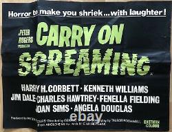 Carry On Screaming 1966 Rare Original Uk Quad Movie Poster