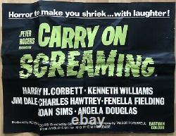 Carry On Screaming 1970's Rare Original Uk Quad Movie Poster