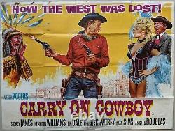 Carry on Cowboy 1965 Original Quad Cinema Movie Film Poster Chantrell Artwork