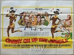 Carry on Up the Jungle 1970 Original Quad Cinema Film Movie Poster